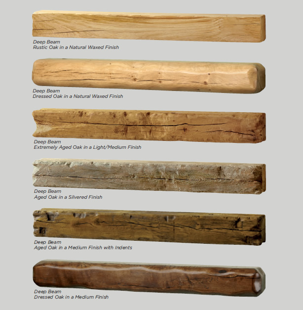 Deep Beams for Fireplace or Stove