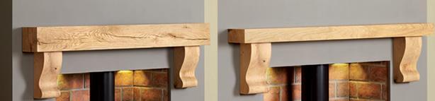 fireplace shelf beam corbels