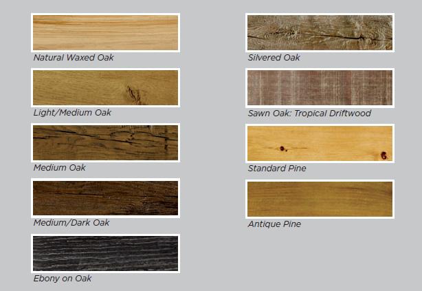 Stove beam shelf colours
